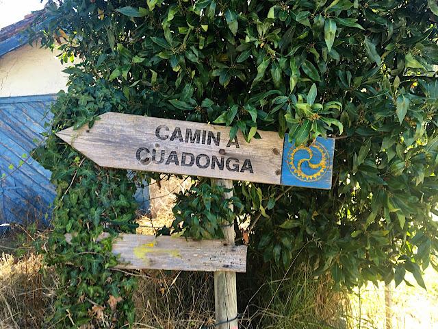 Cartel del Camín a Cuadonga