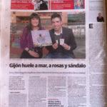 """ER en la Contraportada del diario """"El Comercio"""""""