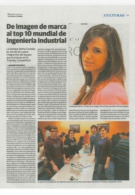 Selma Corrales en el Top 10 de la Ingeniería Industrial