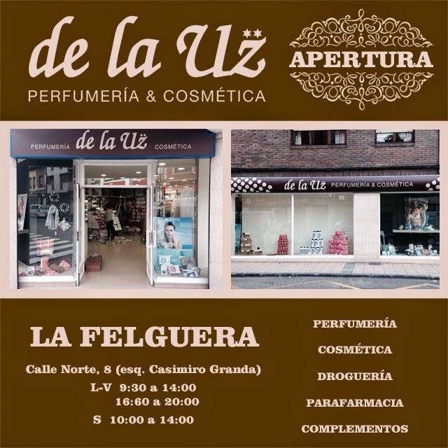 Perfumería de la Uz en la Felguera, punto de venta Eva Rogado