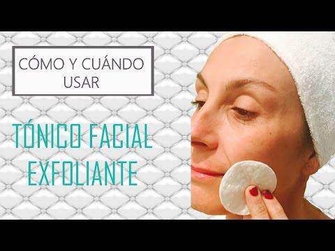 ¿Cuándo y cómo se usa un tónico facial exfoliante? (tutorial Eva Rogado)