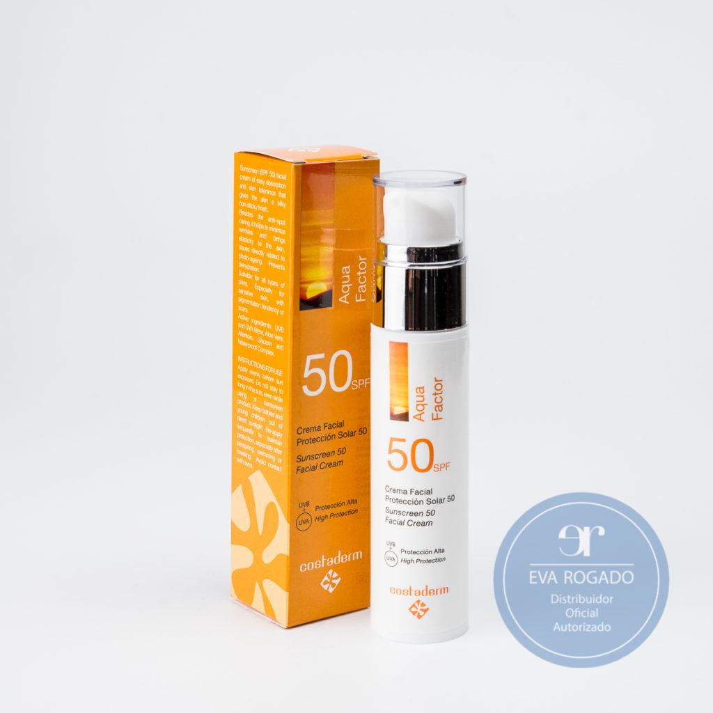 Crema protección Axilas y Facial 50 spf